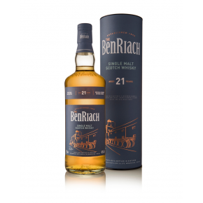 BenRiach, 21 Years Old Speyside Single Malt – 46% (Bourbon/wine/PX & Virgin Oak Casks)