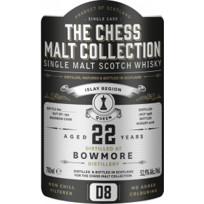 Bowmore, 1996 – 22 Years Old Islay Single Malt – 52,9 % (Bourbon Cask)