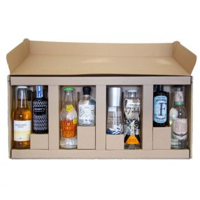 Adventskalender - Fredag før advent - party pack 4 x 10cl GIN inkl. tonic
