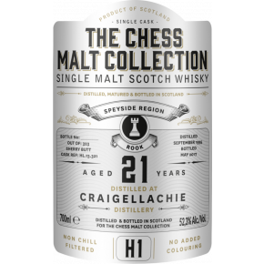 Craigellachie, 1995 – 21 Years Old Speyside Single Malt – 52,3% (Sherry Butt)