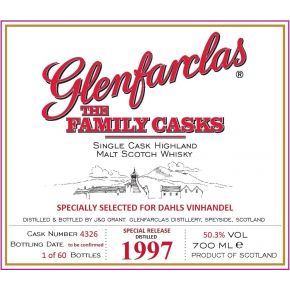 Glenfarclas Family Collection Cask 1997 Private Label Dahls Vinhandel